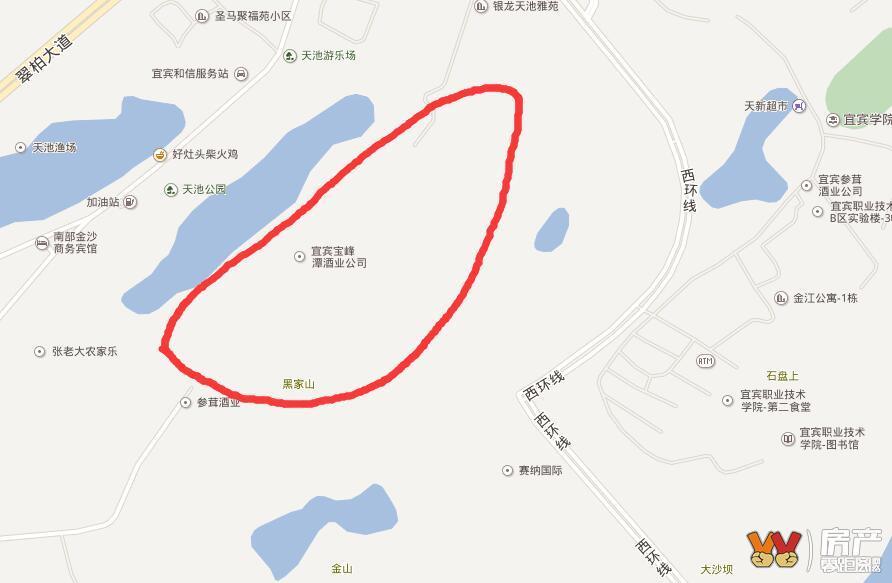 也就是目前天池公园和西环线,塞纳国际(楼盘详情户型图相册地图400